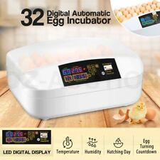 Pet Scene 32 Egg Incubator Fully Automatic LED Hatching Chicken Duck Quail Egg