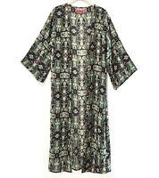 Women's Printed Kimono Robe Top Light Weight Duster Coverup Cardigan NWOT