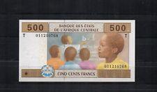 ETATS DE l'AFRIQUE CENTRALE CONGO billet de 500 Frs PK N° 106T 2002 NEUF UNC