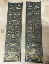 Reclaimed Solid Brass Door Finger Plates Antque finish Large Oblong