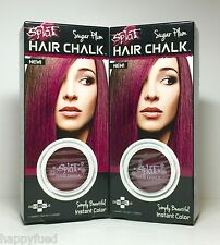 SPLAT Hair Chalk Sugar Plum 2 Compacts Instant Color Highlights Cruelty FREE New