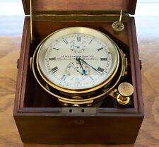 H Hughes & Son London Marine Chronometer Amazing Shape Thomas Mercer Movement