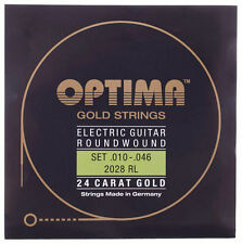OPTIMA 24 Carat Gold Electric Guitar Strings | 2028RL 2028 RL | .010-.046