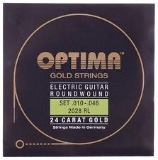 OPTIMA 24 CT Oro Cuerdas para Guitarra Eléctrica | 2028RL 2028 RL |. 010 - .046