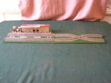 Ancien Jouet en tôle : gare + rails