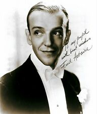 RARE STILL SIGNED  FRED ASTAIRE