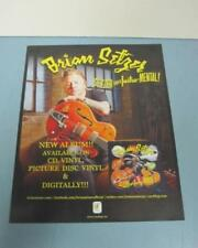 BRIAN SETZER STRAY CATS 2011 goes instru-mental promo mini poster ~NEW~!!