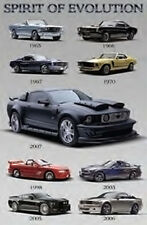 Mustang Spirit of Evolution 24 x 36 inch Auto Poster