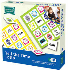 Tell The Time Lotto Maths - Green Board Games