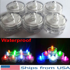 12 Light Up Tea Lights LED Candles Submersible Waterproof Wedding Party Vase