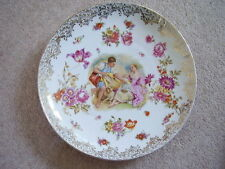 German Dresden-Meissen-Prussia large porcelain charger-plate,signed Boucher
