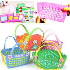 Toy Craft weaving handmade material pack diy flower basket  woven bags knitted