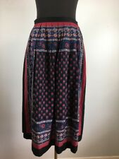 Vintage Lew Magram Women Skirt 12 Pleated Multi Color Floral Midi USA Union Made