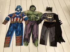 CAPITAN AMERICA, BATMAN e Hulk Costume Bambino Taglia 3-5