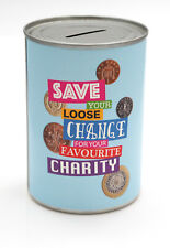 Favourite Charity Savings Tin - STANDARD - Savings Jar Money Tin - HOLDS £260