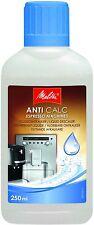 4 X  MELITTA ANTI CALC ESPRESSO LIQUID DESCALER 250ML COFFEE MACHINE 6638320 X 4