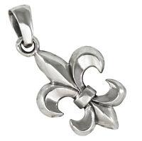 Fleur de Lis Anhänger Silber 925 französische Lilie Fleur de Lys b366