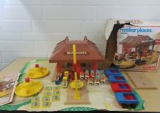 """Vintage 1974 McDonald's Playskool """"Familiar Places"""" Activity Toy With Extras"""