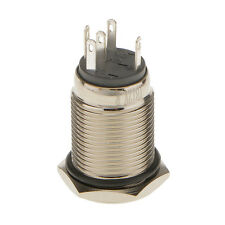 Stainless steel Metal Red LED Momentary 16mm Push Button Switch 12V SPST