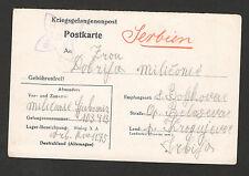 WWII-GERMANY OCC SERBIA- POW POSTCARD - X A (18) - 1941.
