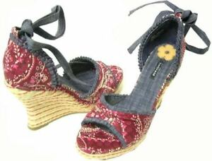 Rampage Sandals Madrid Red Multi Womens 9.5 M US
