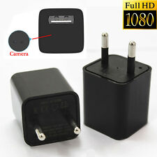 EU Plug DC 5V 1080P USB Mini SPY Hidden Wall Charger Camera Power Adapter Cam