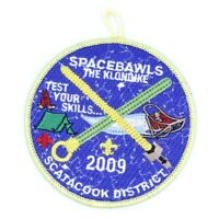 2009 Scatacook District Camporee Klondike Mauwehu Council Patch CT Spaceballs