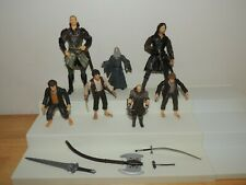 Lord of the Rings Action Figures~ Lot of 7~Aragorn~Legolas~ Sam - Frodo