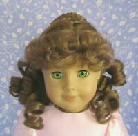 Imsco LAURA Lt. Brown Full Cap Doll Wig Size 12-13 Long Ringlets, Braided Crown