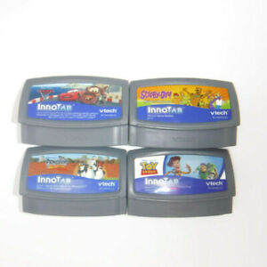 VTech INNOTAB GAMES 4 Cartridges Scooby Doo Toy Story Disney Cars Penguins