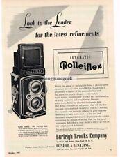 1951 Rolleiflex TLR Camera Medium Format Look To The Leader Vtg Print Ad