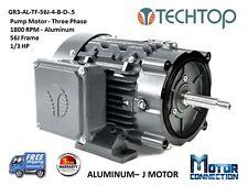 1/2 HP, Electric Motor, PUMP, 1800 RPM, 56J, 3-Phase, NEMA Premium