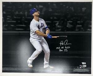 """PETE ALONSO Autographed """"MLB HR Rookie Rec 53"""" 16 x 20 Photograph FANATICS LE 53"""