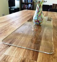 Clear Acrylic Rectangle Table Runner/ Protector in 3mm & 5mm thick options