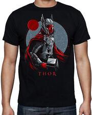 Thor Superhero Character Logo Avengers Comic Book Hero Movie Black T Shirt