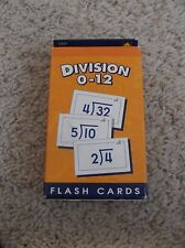 School Zone Division 0-12 Flash Cards