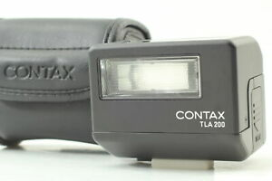 [MINT in Case] Contax TLA 200 Black Shoe Mount Flash Contax G1 G2 From JAPAN