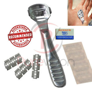 Hand Callus Remover Palm Finger Thumb Callus Shaver with 10 Blades for Dry Skin
