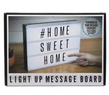 Large Personalised Light Up Message Board Indoor Sign Chrome Modern Living Room