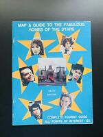 Map and Guide To The Fabulous Homes of The Stars '76-'77 Features Jaws Nicholson