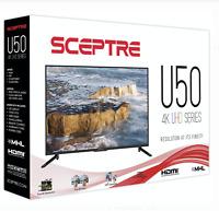 "Sceptre 50"" Class 4K UHD LED TV U515CV-U Brand New"