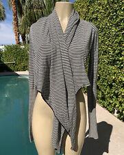 ALL SAINTS Striped Manila Pirate Knit Wrap Cardigan Top Sweater UK 14 / US 10