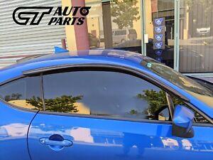 Window Visor Weather Shield Tape-On for 12-19 Toyota 86 GT86 GTS Subaru BRZ