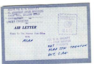 Friedenssicherung der Vereinten Nationen UNMOGIP Pakistan Air Letter