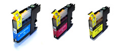 Compatible Brother High Yield LC125XL Ink Cartridges - Cyan, Magenta, Yellow