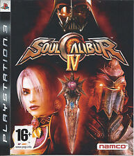 SOUL CALIBUR IV - SOULCALIBUR IV for Playstation 3 PS3 - with box & manual