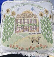 Pfaltzgraff Pistoulet FARMHOUSE TAPESTRY PILLOW - SUNFLOWER MOON SUN DOG