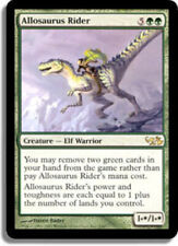 [1x] Allosaurus Rider [x1] Mtg Duel Decks: Elves vs. Goblins Slight Play, Englis