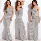 Sexy Long Summer Dresses Women Striped Casual Ladies Spaghetti Strap Maxi Dress