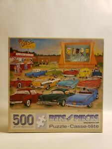 Bits and Pieces 500 Jigsaw Puzzle Drive In by Kay Lamb Shannon Old Cars Movie